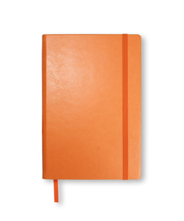 A5 Orange Swatch custom coloured notebook