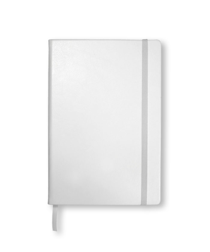 A5 White Swatch custom coloured notebook