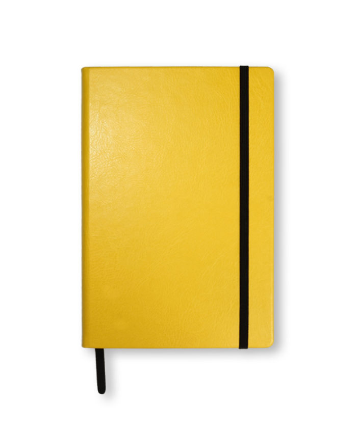 A5 Yellow Swatch custom coloured notebook