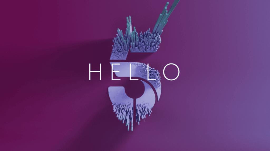 Channel 5 rebrand by Gretel