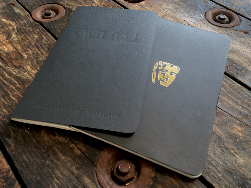 Moleskine cahiers branded for Bafta