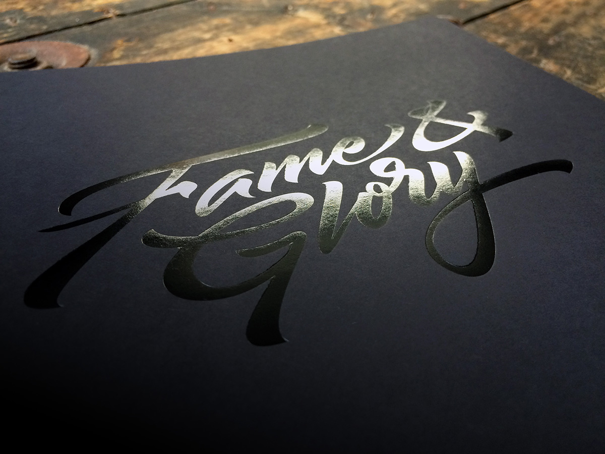 Impero custom notebook with black foil by Noted in Style