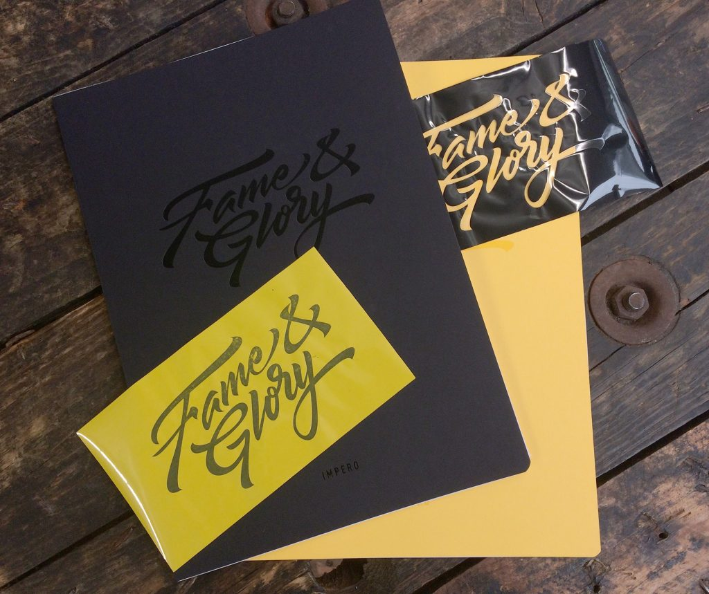 Yellow and black Impero custom notebooks by Noted in Style