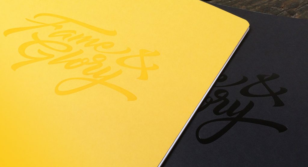 Foiled Impero custom notebooks created by Noted in Style
