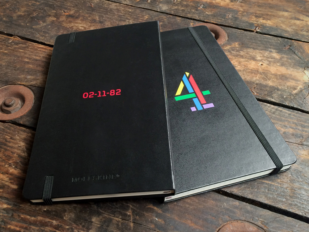 Channel 4 Screen printed Moleskine notebooks