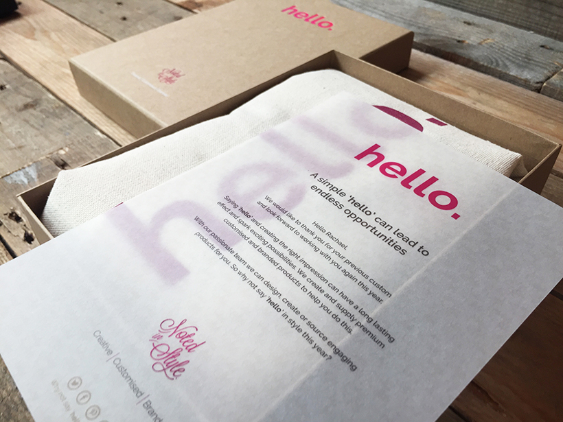 Promotional Products - Hello campaign box