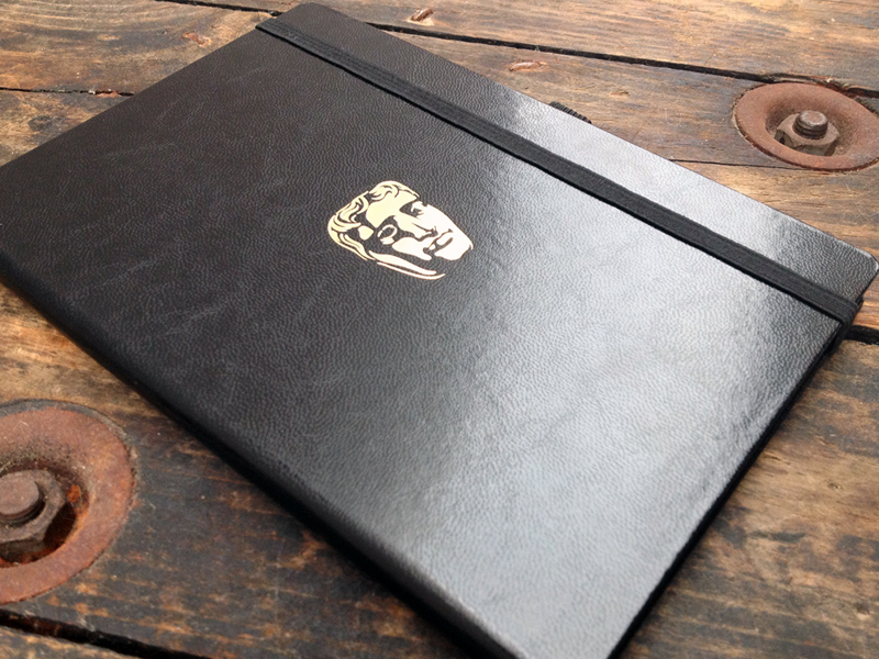 bafta gold foiled notebook