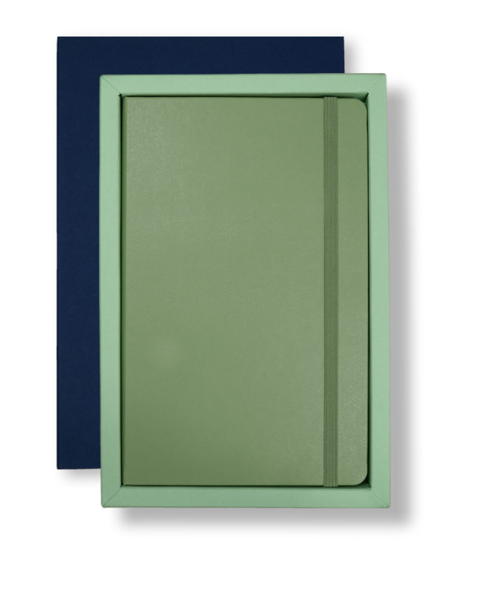 A5 Blue/Green Moleskine Tray Case