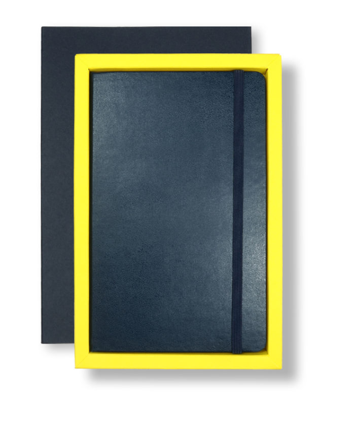 A5 Blue/Yellow Moleskine Tray Case
