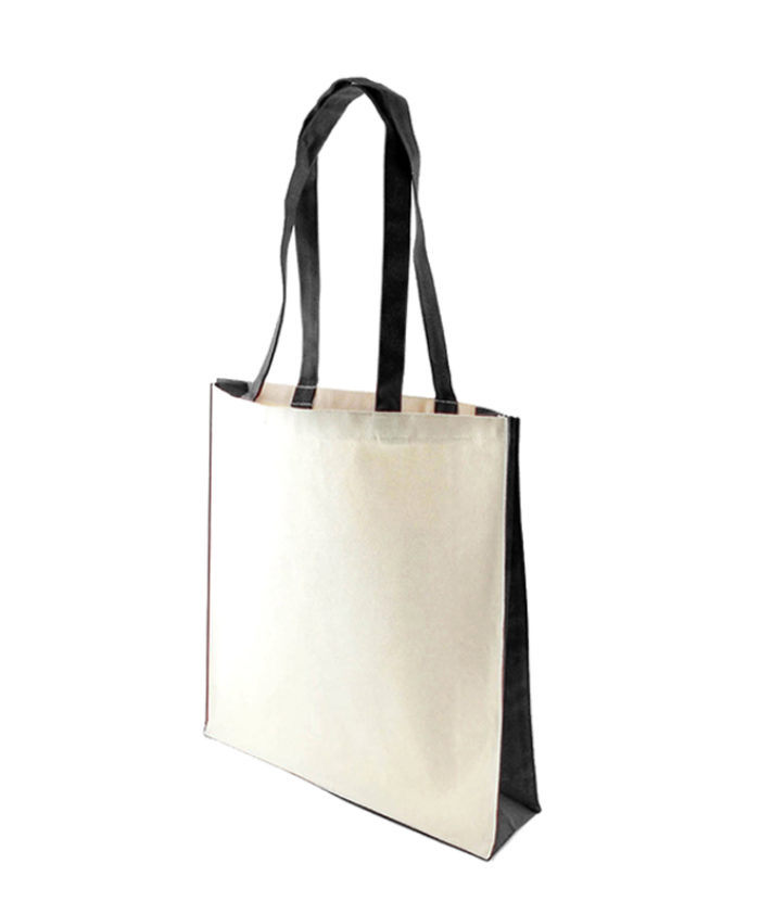 Accent Canvas Black Tote Bag