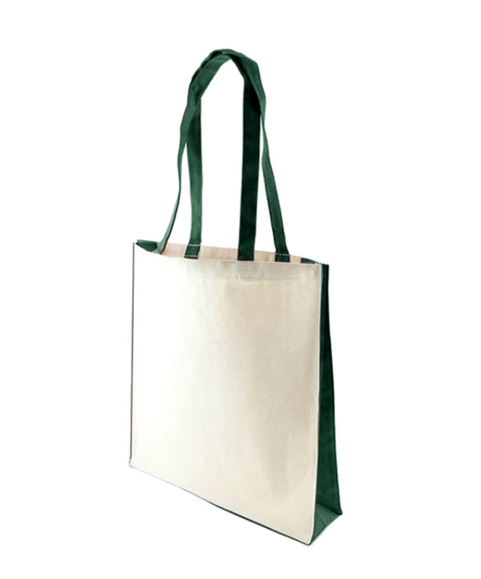 Accent Canvas Green Tote Bag
