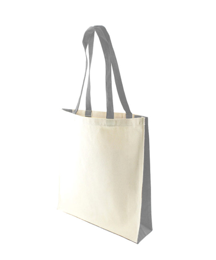 Accent Canvas Grey Tote Bag