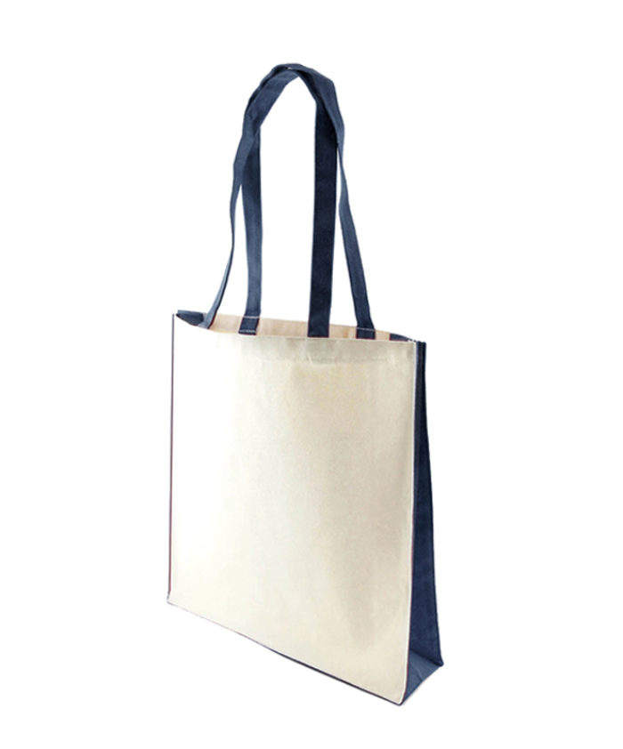 Accent Canvas Navy Blue Tote Bag