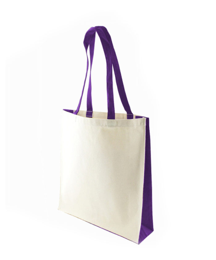 Accent Canvas Purple Tote Bag