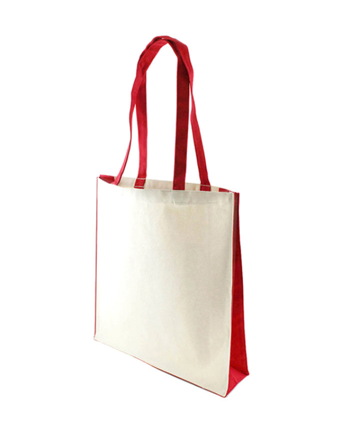 Accent Canvas Red Tote Bag