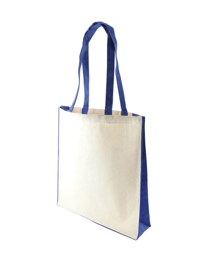 Accent Canvas Royal Blue Tote Bag