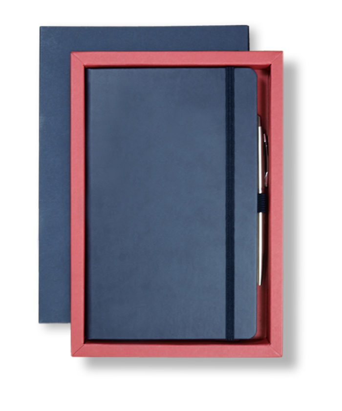 A5 Blue/Red Castelli Pen Tray Case