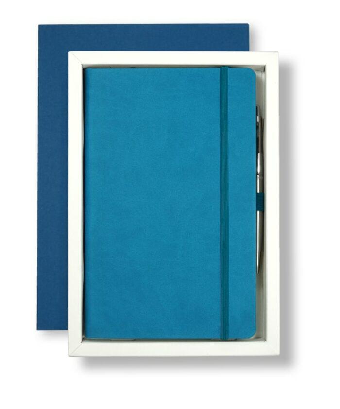 A5 Blue/White Castelli Pen Tray Case