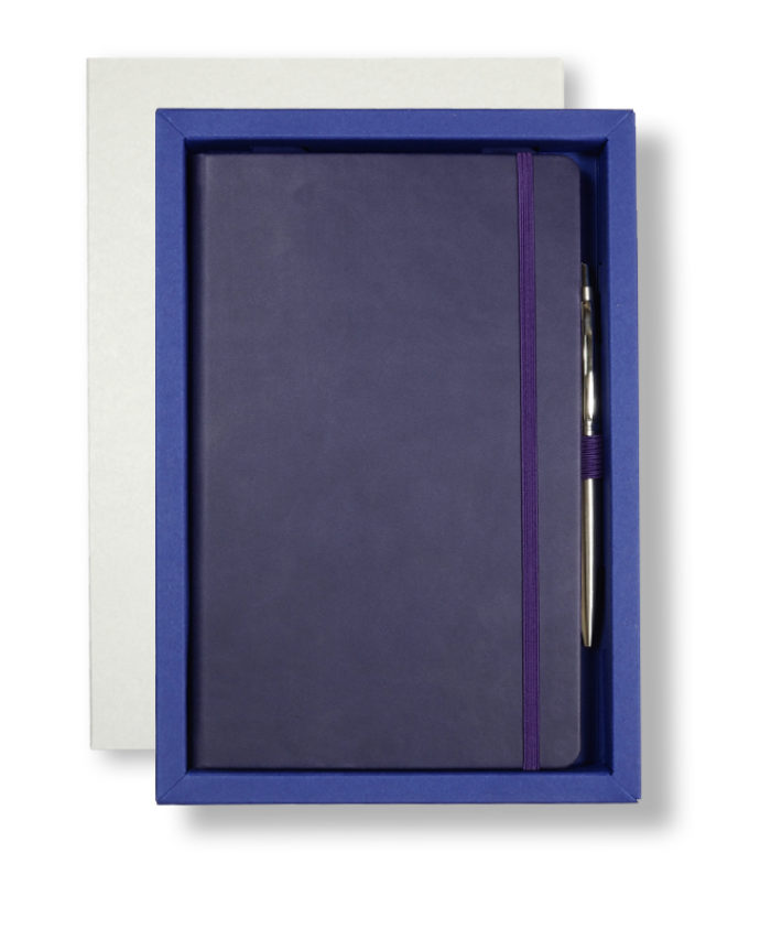 A5 White/Blue Castelli Pen Tray Case