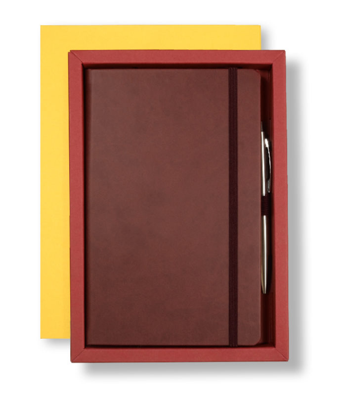 A5 Yellow/Red Castelli Pen Tray Case