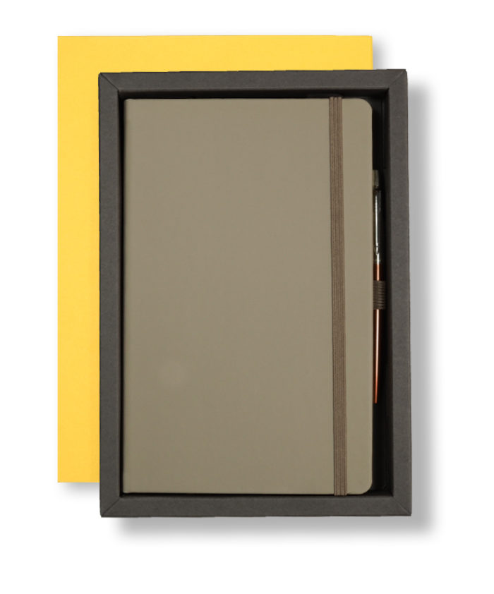 A5 Yellow/Taupe Castelli Pen Tray Case