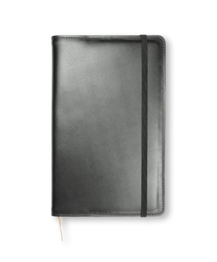 A5 Black Refillable Notecoat for Moleskine Genuine Leather
