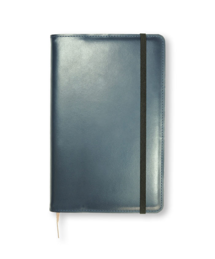 A5 Blue Refillable Notecoat for Moleskine Genuine Leather