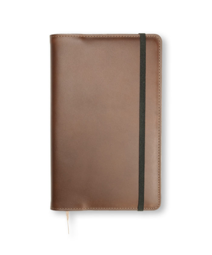 A5 Brown Refillable Notecoat for Moleskine Genuine Leather
