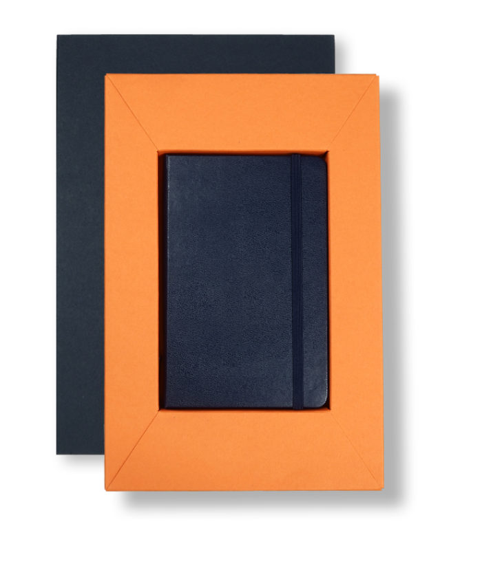 A6 Blue/Orange Moleskine Tray Case