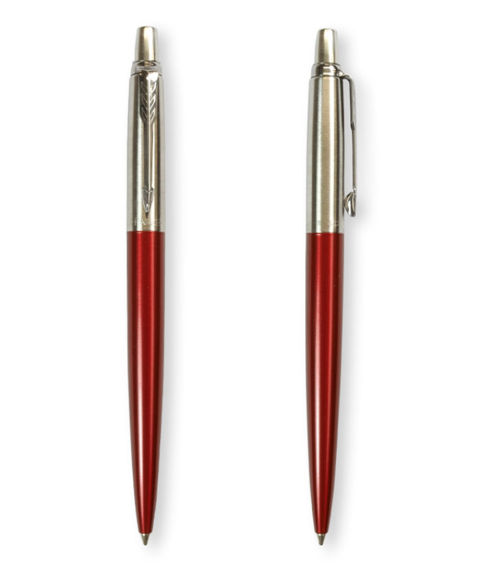 Kensington Red Parker Metallic Jotter