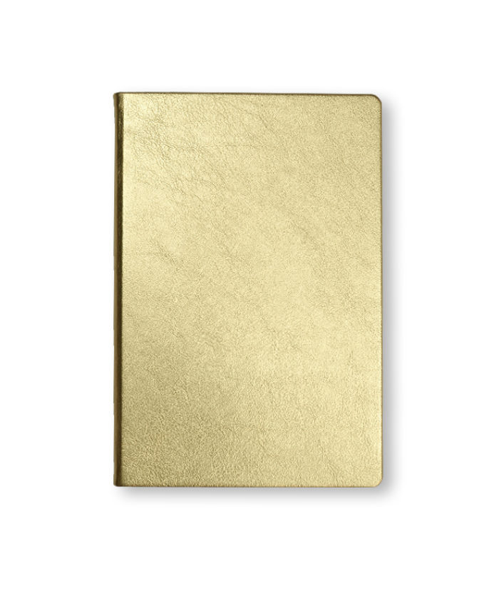 A5 Gold metallic notebook