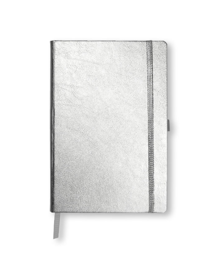 A5 Silver metallic notebook