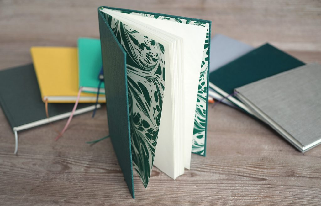 Handmade-notebooks-jazzy-endpapers-and-cloth-covering