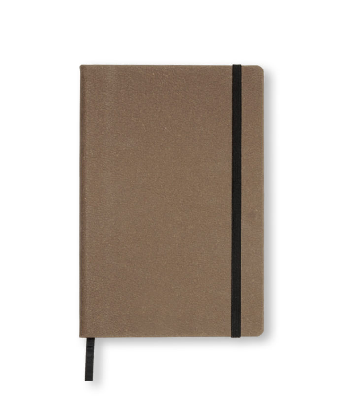A5 Brown recycled leather notebook