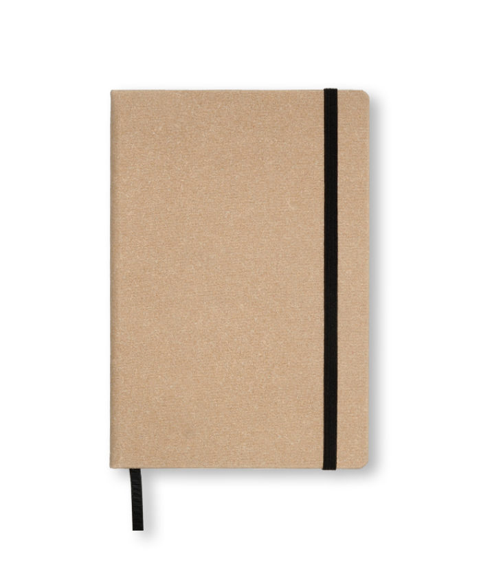 A5 Light Beige recycled leather notebook