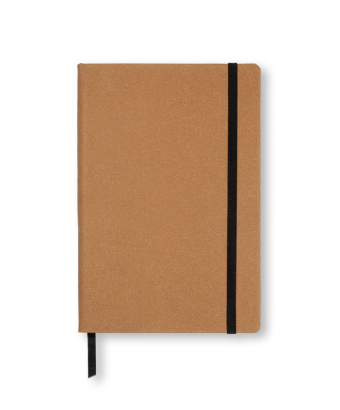 A5 Tan recycled leather notebook