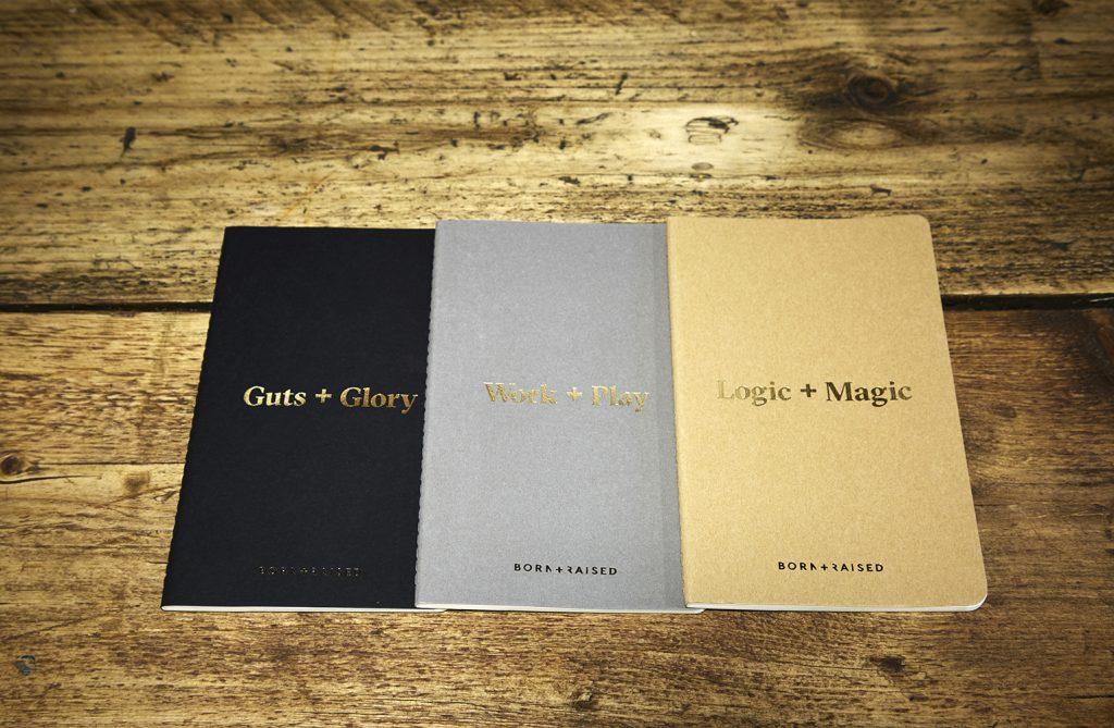 branded notebooks-moleksine-cahier-born-raised