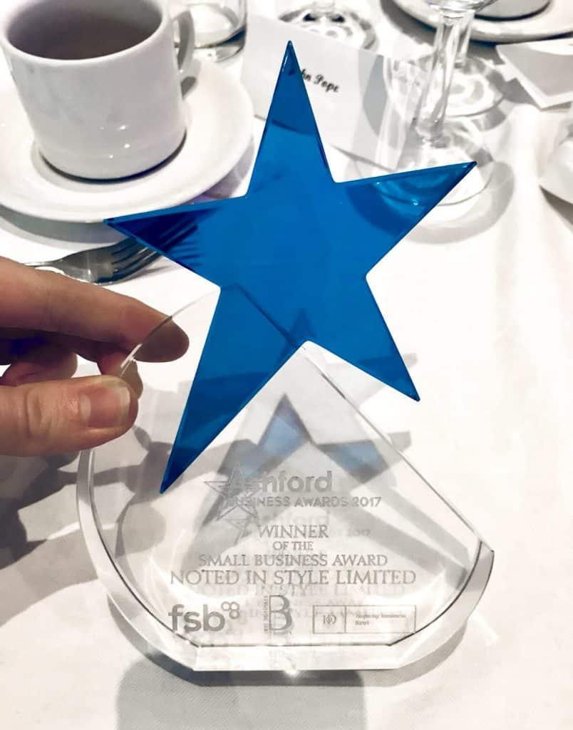 ashford business awards trophy