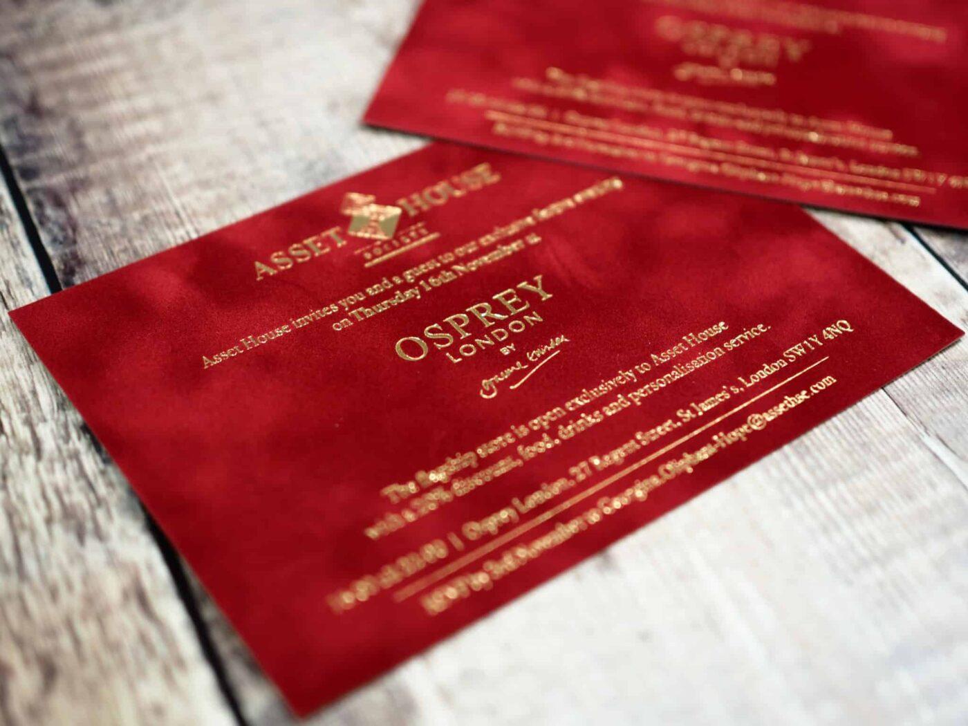 Gold-foiled-flock-invites-Assett-House