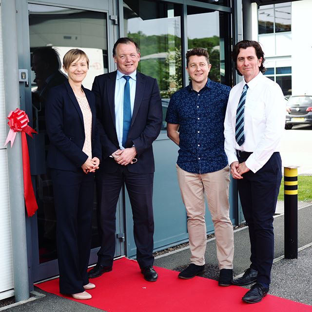 Damian Collins MP opening new premises for noted in style