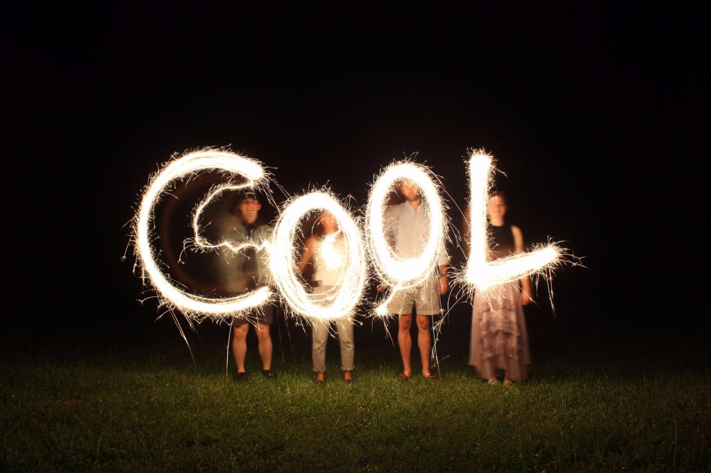 sparkler text to make a note