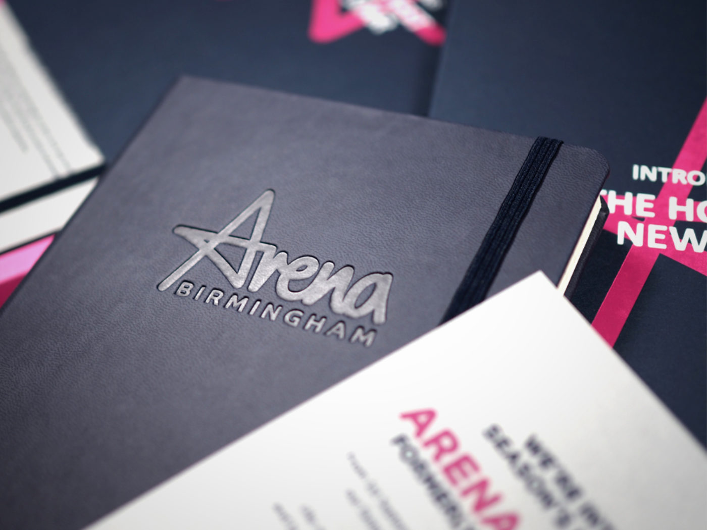 Arena Birmingham branded notebooks