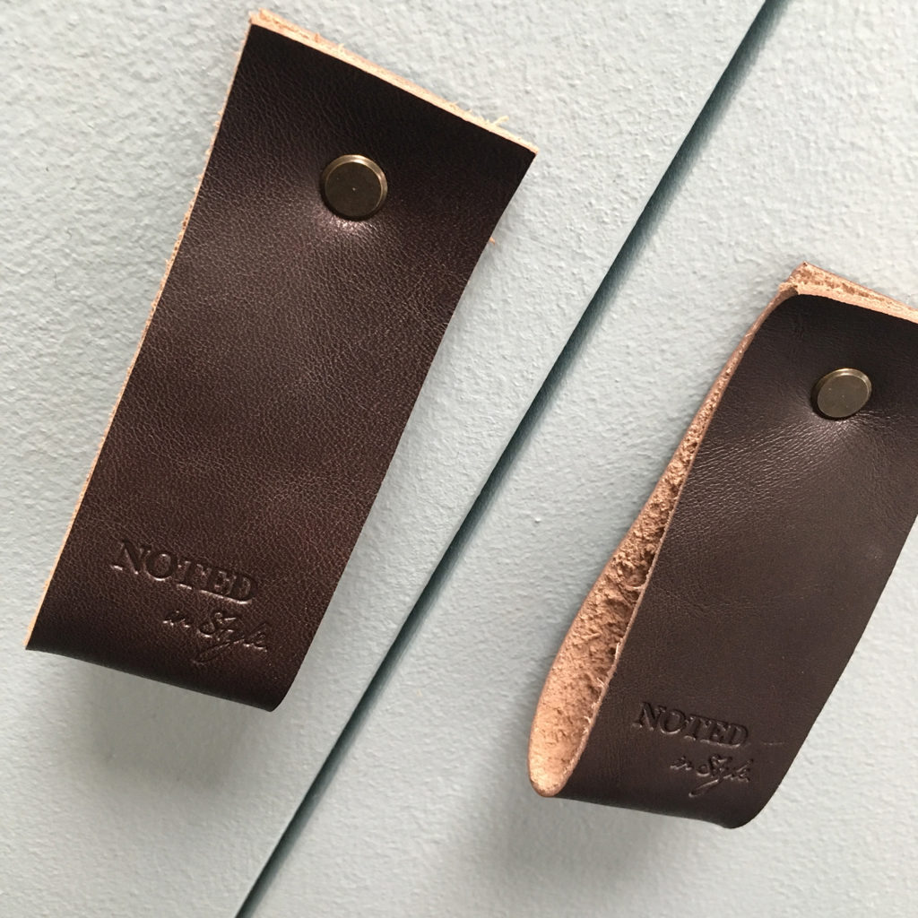 Leather door handles