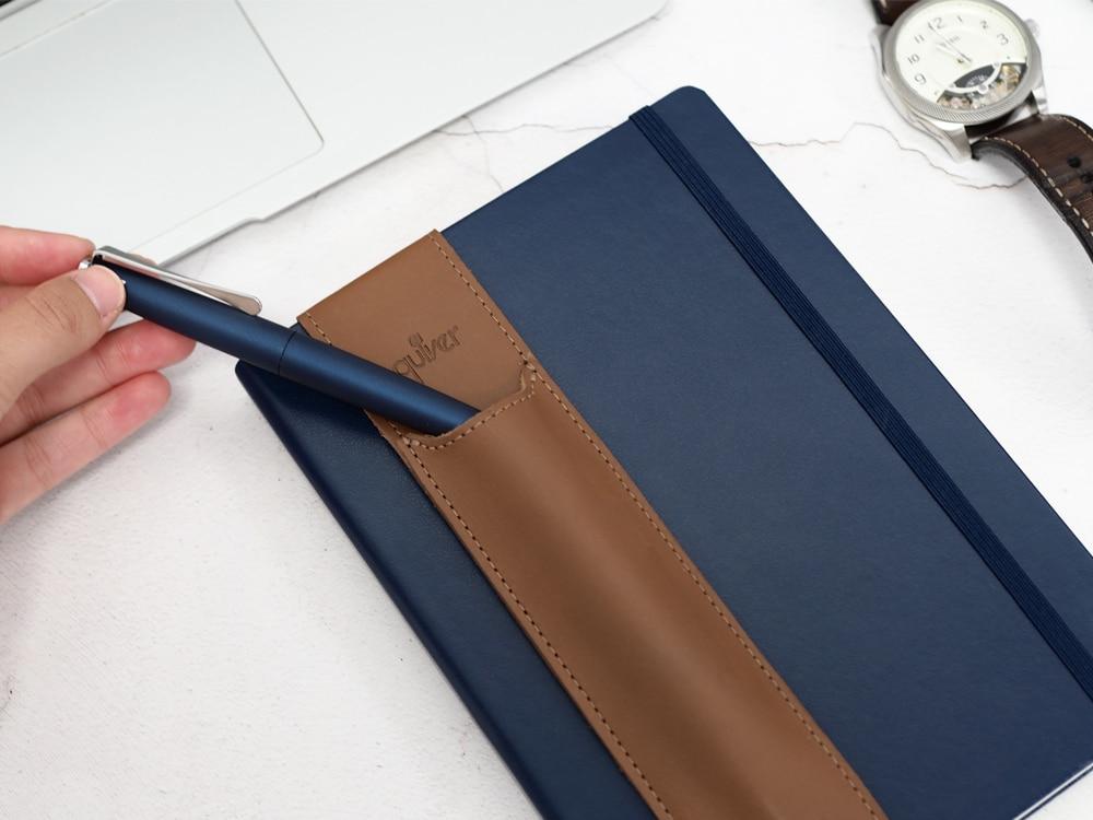 Genuine-Leather-Pen-Pocket-for-Notebook