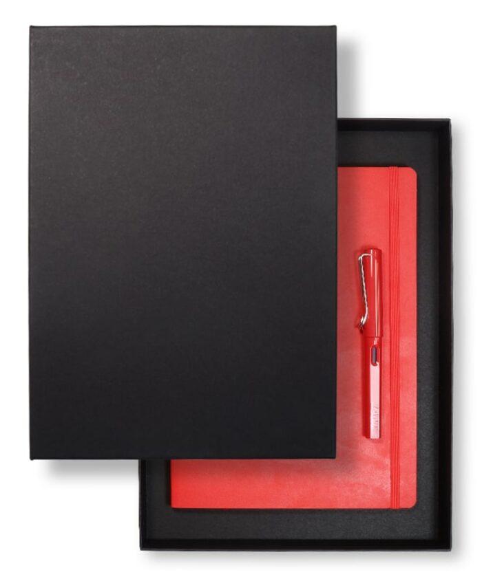 A4 recycled lidded slim gift box - Black