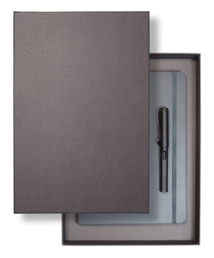 A4 recycled lidded slim gift box - Grey