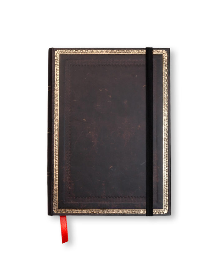 Midi Black Moroccan Classic Old Leather Paperblanks Notebook