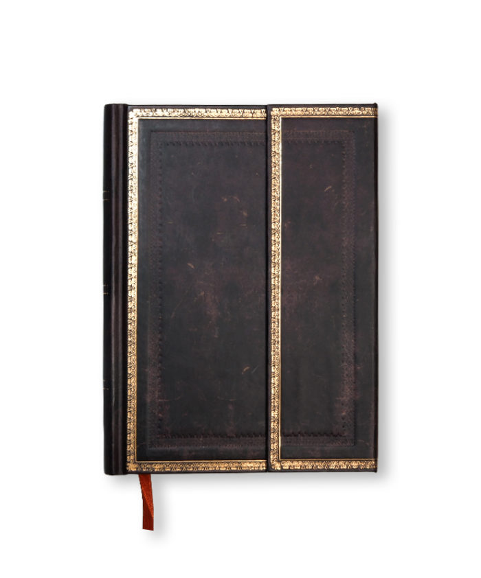 Midi Black Moroccan Old Leather Paperblanks Notebook