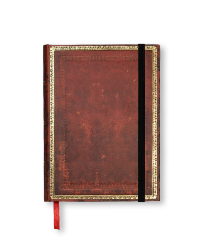 Midi Venetian Red Classic Old Leather Paperblanks Notebook