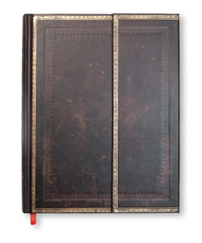 Ultra Black Moroccan Old Leather Paperblanks Notebook